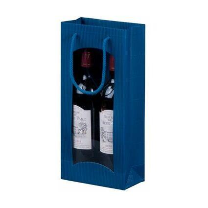smartboxpro Flaschentüte, für 2 Flaschen, bordeaux