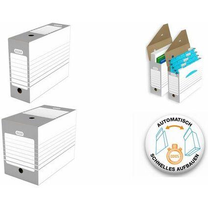 ELBA Archiv-Schachtel, Breite 100 mm, A4, weiß/grau