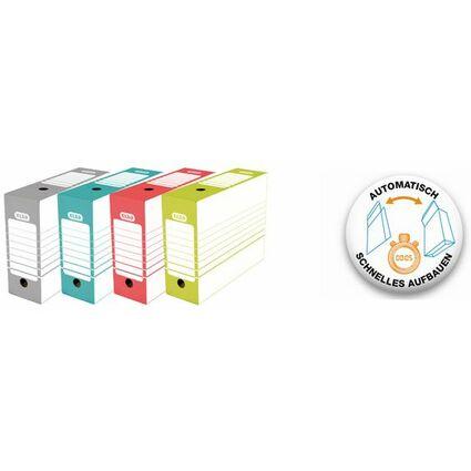 ELBA Archiv-Schachtel, Breite 100 mm, A4, farbig sortiert
