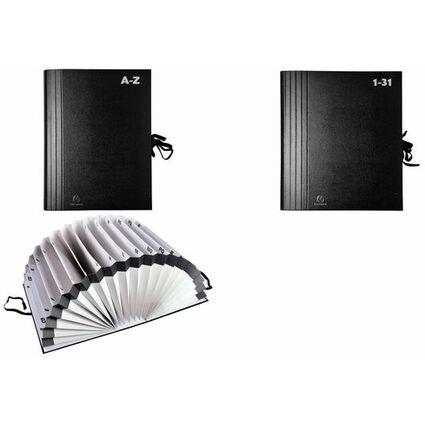 EXACOMPTA Vorordner A-Z, für DIN A4, schwarz