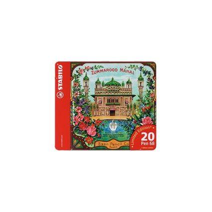 STABILO Fasermaler Pen 68, 20er Metall-Etui Zummarood Mahal