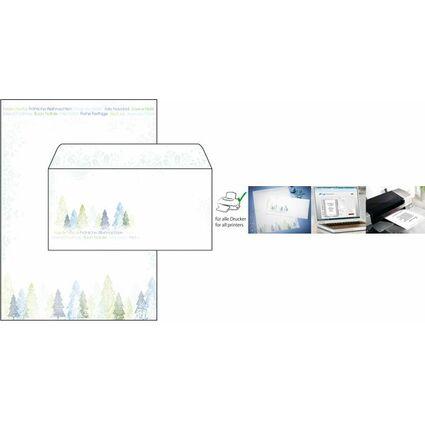 """sigel Weihnachts-Motiv-Papier """"Trees"""", A4, 90 g/qm"""