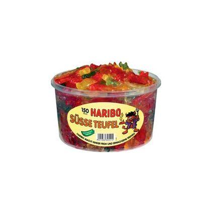 HARIBO Fruchtgummi SÜSSE TEUFEL, 150er Runddose