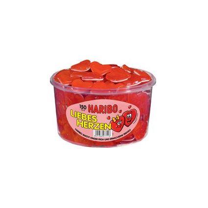HARIBO Fruchtgummi LIEBESHERZEN, 150er Runddose