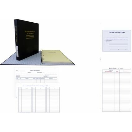 ELVE Recharge pour reliure D77, 297 x 210 mm, papier blanc
