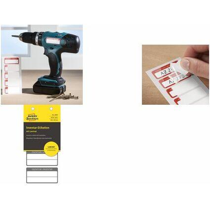 AVERY Zweckform Inventar-Etiketten mit Laminat, schwarz