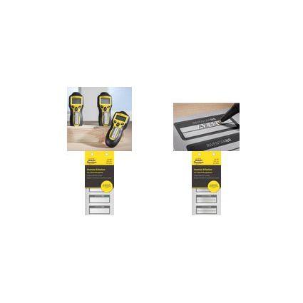 AVERY Zweckform Inventar-Etiketten, Aluminium-Folie, schwarz