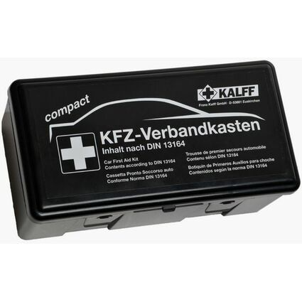"""KALFF KFZ-Verbandkasten """"Kompakt"""", Inhalt DIN 13164, schwarz"""