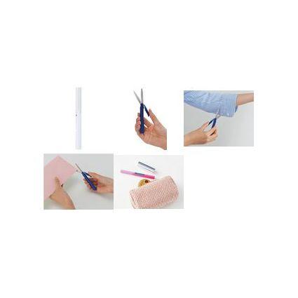 PLUS JAPAN Taschenschere, spitz, Länge: 135 mm, pink
