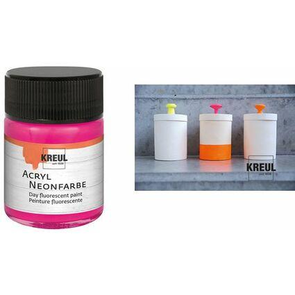KREUL Acryl-Neonfarbe im Glas, neongelb, 50 ml