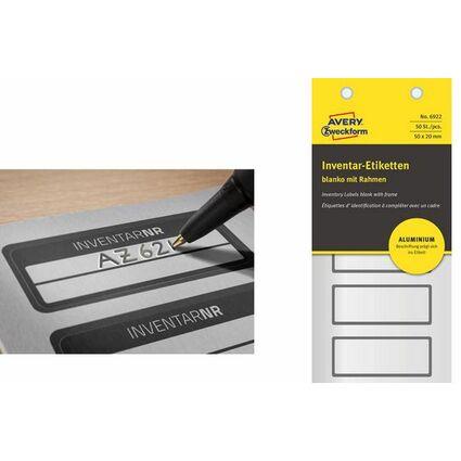 AVERY Zweckform Inventar-Etiketten, Aluminium-Folie, blanko