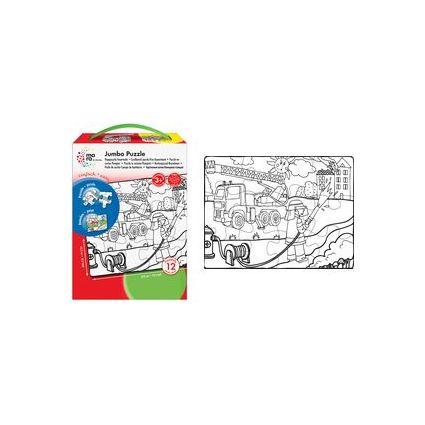 "mara by Marabu Jumbo Ausmal-Puzzle ""Bauernhof"", 12 Teile"