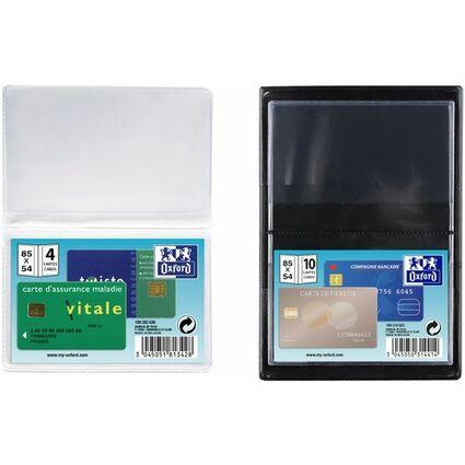 ELBA Kreditkartenhülle für 4 Kreditkarten, 300 my, PVC