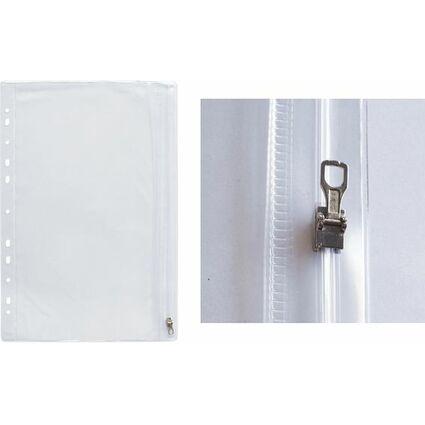 ELBA Reißverschlusstasche, DIN A4, PVC, glasklar, 0,14 mm