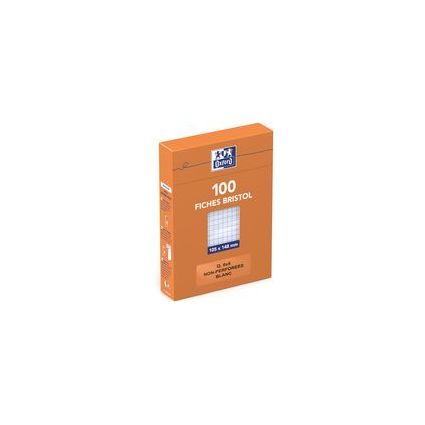 Oxford Karteikarten, DIN A6, kariert, weiß, 210 g/qm