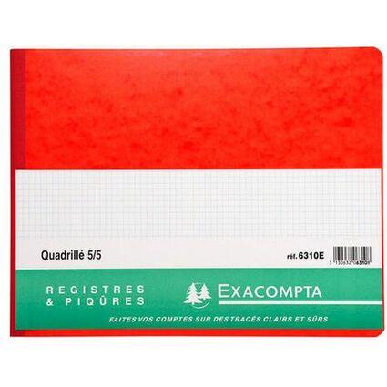EXACOMPTA Registre Quadrillé 5x5, 250 x 320 mm horizontal