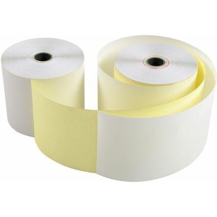 EXACOMPTA Kassenrollen, 57 mm x 25 m x 12 mm, weiß/gelb