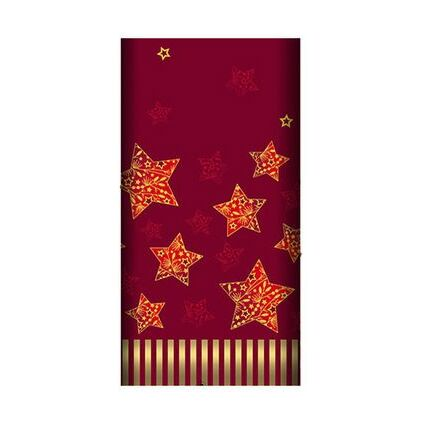 """PAPSTAR Weihnachts-Motivservietten """"Sparkling Stars"""", rot"""