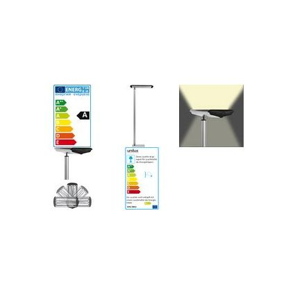 unilux Energiespar-Stehleuchte EVIDENCE, Farbe: metallgrau