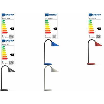 unilux LED-Tischleuchte SOL, Farbe: rot
