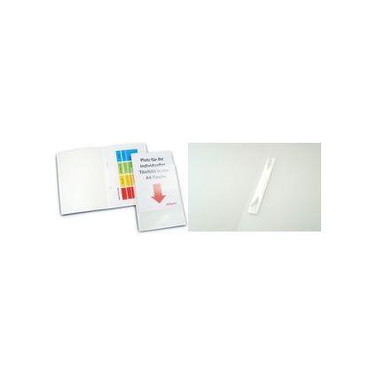 dataplus Schnellhefter mit DIN A4-Tasche, weiß