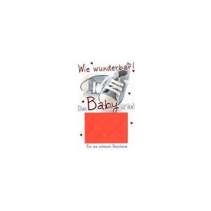 HORN Geburtskarte - Baby-Schuhe - inkl. Umschlag