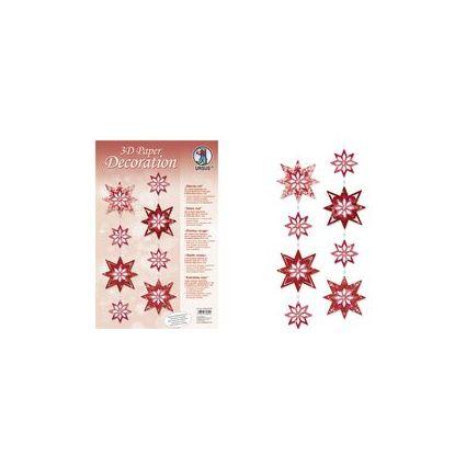 """URSUS Deko-Accessoires 3D Paper Decoration """"Sterne silber"""""""