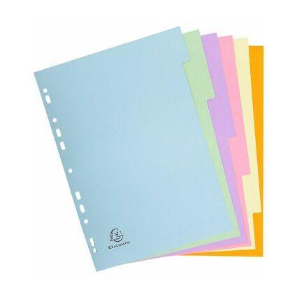 EXACOMPTA Karton-Register, DIN A4, 6-teilig