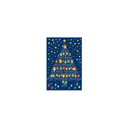 """SUSY CARD Weihnachtskarte international """"Eulen"""""""