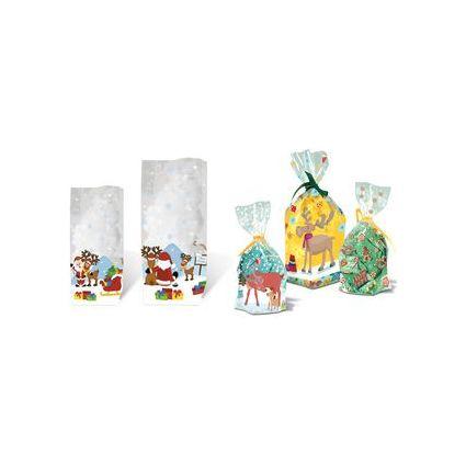 """URSUS Zellglasbeutel """"Weihnachtsmann"""", Maße: (B)145x(H)235mm"""