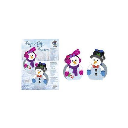 """URSUS Weihnachts-Geschenkbox Paper Gift Boxes """"Schneemann"""""""