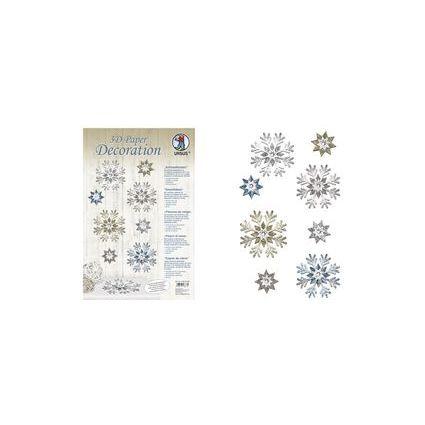 """URSUS Deko-Accessoires 3D Paper Decoration """"Schneeflocken"""""""