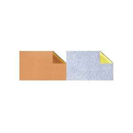 URSUS Alu-Bastelfolie, (B)500 x (L)800 mm, gold/gold