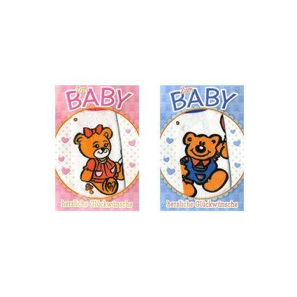 HORN Geburtskarte - Blaue Söckchen - inkl. Umschlag