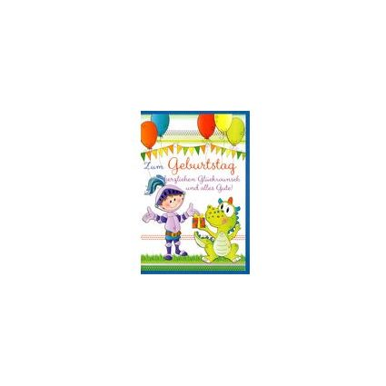 HORN Kinder-Geburtstagskarte - Ritter - inkl. Umschlag