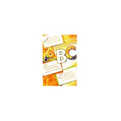 HORN Geburtstagskarte - ABC - inkl. Umschlag