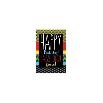 HORN Geburtstagskarte - Gold Glimmer -  inkl. Umschlag