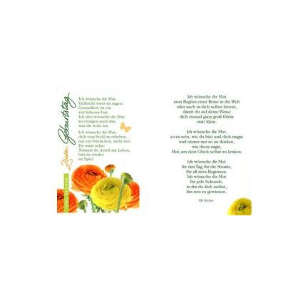 HORN Geburtstagskarte - Ranukeln - inkl. Umschlag