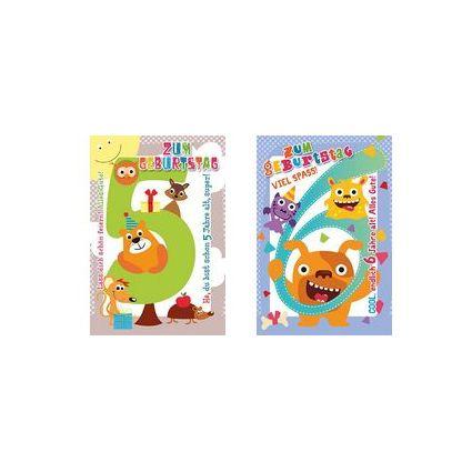 HORN Kinder-Geburtstagskarte - Tiermotive - 6.Geburtstag