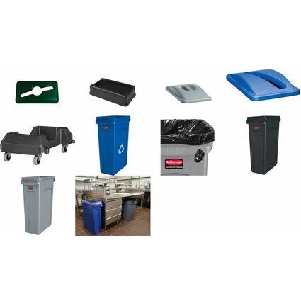 Rubbermaid Abfallbehälter Slim Jim mit Luftungskanälen,blau