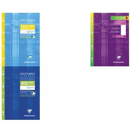 Clairefontaine Feuillets mobiles perforés, A4, quadrillé 5x5