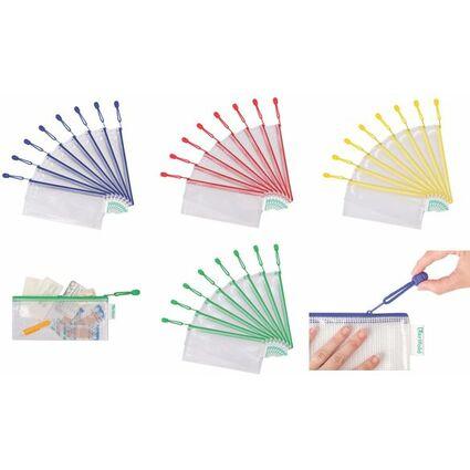 tarifold Reißverschlusstasche ZIPPER, DIN lang, PVC, blau