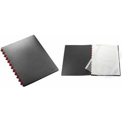 herlitz Sichtbuch EasyFix, DIN A4, mit 20 Hüllen, schwarz