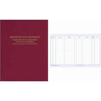 "ELVE Registre ""Mandat Transaction Immobilière"", 200 pages"