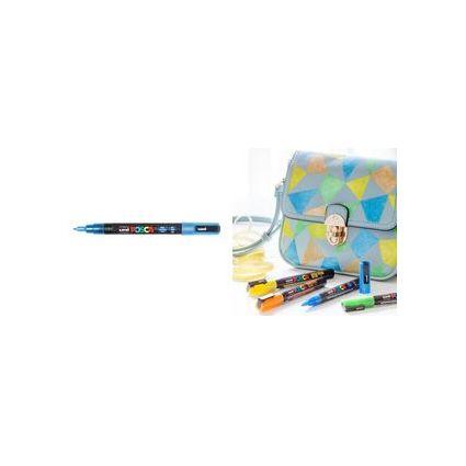 uni-ball Pigmentmarker POSCA PC-3ML, glitter-hellblau