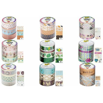 folia deko klebeband washi tape hotfoil silber 4er set 26417 bei g nstig kaufen. Black Bedroom Furniture Sets. Home Design Ideas