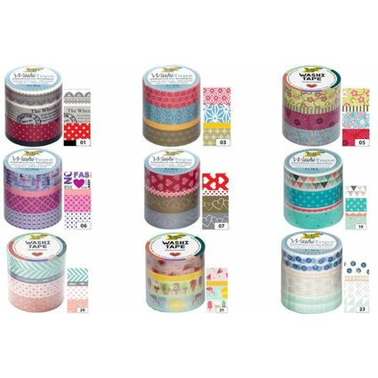 folia deko klebeband washi tape pastell 4er set 26419 bei g nstig kaufen. Black Bedroom Furniture Sets. Home Design Ideas