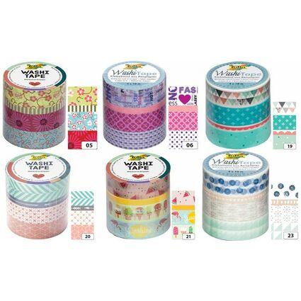 folia deko klebeband washi tape pastell 4er set 26419 bei. Black Bedroom Furniture Sets. Home Design Ideas