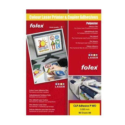 FOLEX Color-Laserfolie, DIN A4, selbstklebend, weiß