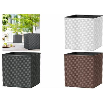 emsa blumenw rfel casa mesh h he 310 mm granit 517589. Black Bedroom Furniture Sets. Home Design Ideas
